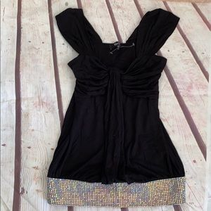 Black sky top Swarovski